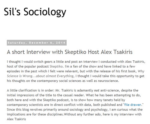 SilsSociology-Interview-Skeptiko-Host-Alex-Tsakiris